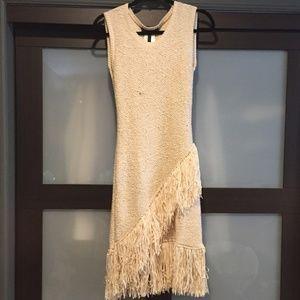 BCBG Woven Fringe Rachull Dress